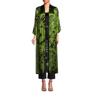 ALICE + OLIVIA Palm Print Burnout Long Kimono